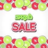 Spring Sale Design Illustration. Spring Sale Design. Colorful Vector Illustration eps10 Royalty Free Stock Image
