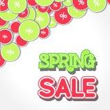 Spring Sale Design Illustration. Spring Sale Design. Colorful Vector Illustration eps10 Stock Photos