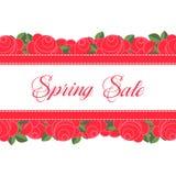 Spring Sale Design Vector. Spring Sale Design. Colorful Vector Illustration eps10 Stock Images