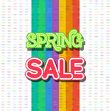 Spring Sale Design Vector. Spring Sale Design. Colorful Vector Illustration eps10 Royalty Free Stock Photos