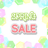 Spring Sale Design Vector. Spring Sale Design. Colorful Vector Illustration eps10 Stock Photography
