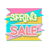 Spring Sale Design Vector. Spring Sale Design. Colorful Vector Illustration eps10 Royalty Free Stock Photo