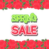 Spring Sale Design Vector. Spring Sale Design. Colorful Vector Illustration eps10 Royalty Free Stock Image