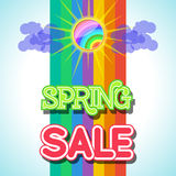 Spring Sale Design Vector. Spring Sale Design. Colorful Vector Illustration eps10 Stock Photos