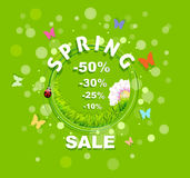 Spring Sale discount background Royalty Free Stock Images