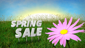 Spring Sale discount background template Stock Photography