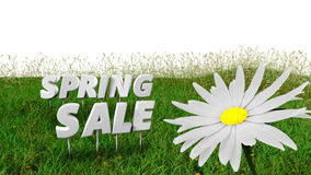 Spring Sale discount background template Royalty Free Stock Photo