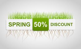 Spring Sale Discount. Banner Template. Stock Photography
