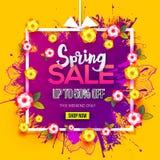 Spring sale doodles gift stock illustration