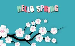 Spring sale floral banner royalty free illustration