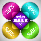 Spring sale flower Royalty Free Stock Images