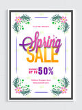 Spring Sale Flyer or Banner. Stock Photography