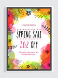 Spring Sale Flyer or Sale Banner. Stock Photo