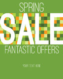 Spring sale graphic Royalty Free Stock Photo