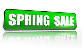 Spring sale green banner Royalty Free Stock Photo