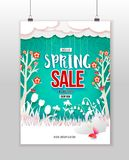 Spring Sale green poster Stock Photo