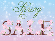 Spring sale greeting card Stock Images