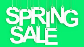 Spring Sale hanging Letters Royalty Free Stock Photos