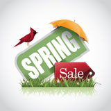 Spring sale icon stock illustration Stock Photos