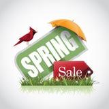 Spring sale icon stock illustration Stock Photos