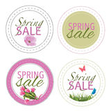 Spring Sale icons stickers or badges Stock Photos