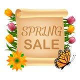 Spring sale illustration stock illustration