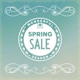 Spring SALE label design Stock Photo