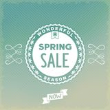Spring SALE label design Stock Images