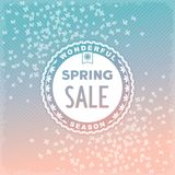 Spring SALE label design Royalty Free Stock Photos
