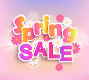 Spring sale label, 50 percent discount. Royalty Free Stock Photography