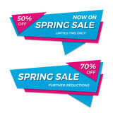 Spring sale label price tag banner badge template sticker design Royalty Free Stock Photography