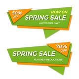Spring sale label price tag banner badge template sticker design Royalty Free Stock Images