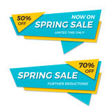 Spring sale label price tag banner badge template sticker design Royalty Free Stock Image