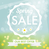Spring sale label Royalty Free Stock Photos