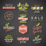 Spring sale labels Royalty Free Stock Image