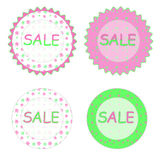 Spring sale labels Royalty Free Stock Images