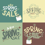 Spring sale labels set Royalty Free Stock Images