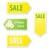 Spring sale labels Royalty Free Stock Photography