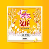 Spring Sale square banner Royalty Free Stock Images