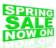 Spring Sale Means At The Moment And Currently Stock Photo