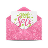 Spring sale message. In envelope Vector Illustration