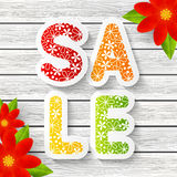 Spring sale message Stock Image