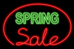 Spring sale neon Stock Image