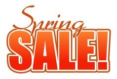Spring sale orange illustration sign. Over white background Stock Photography