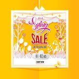 Spring Sale paper art Royalty Free Stock Images