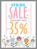 Spring Sale Poster, Banner or Flyer design. Royalty Free Stock Photo