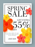 Spring Sale Poster, Banner or Flyer Design. Royalty Free Stock Photos