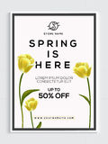 Spring Sale Poster, Banner or Flyer design. Stock Photography