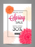 Spring Sale Poster, Banner, Flyer or Pamphlet. Royalty Free Stock Photos