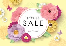 Spring sale poster Stock Photo